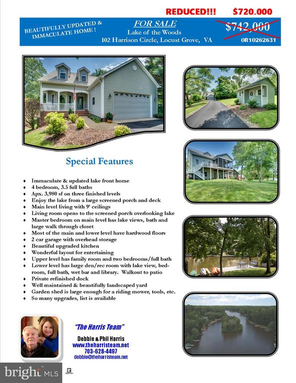 LISTS OF SPECIAL FEATURES - 102 HARRISON CIR, LOCUST GROVE