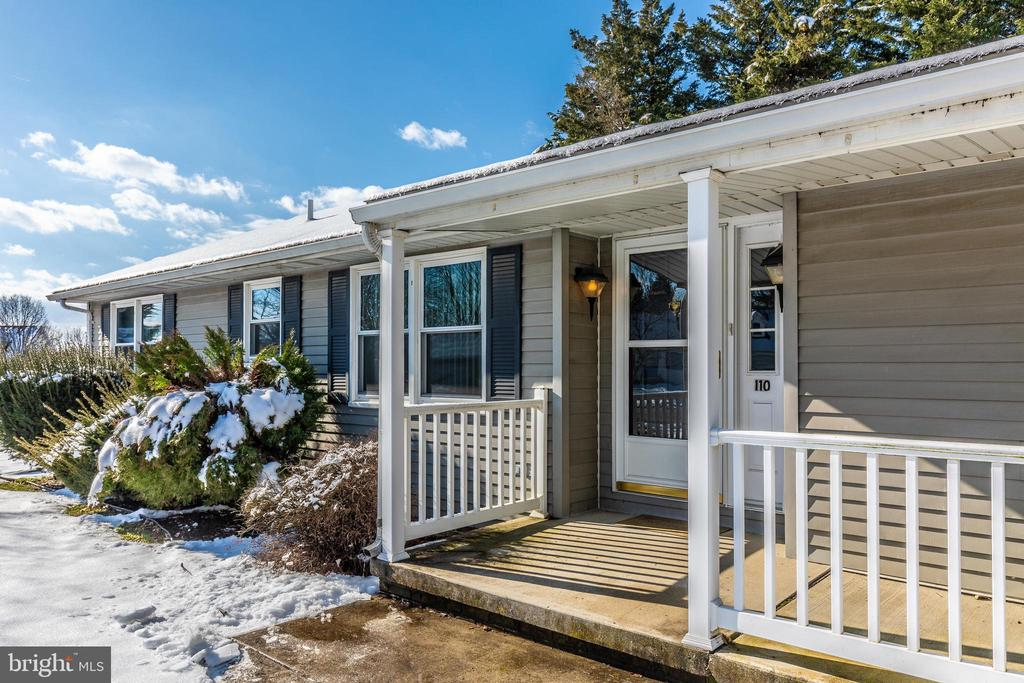 Front porch with plenty of room for seating - 110 ELK DR, HANOVER