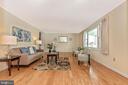 Large living room with newer floors - 110 ELK DR, HANOVER
