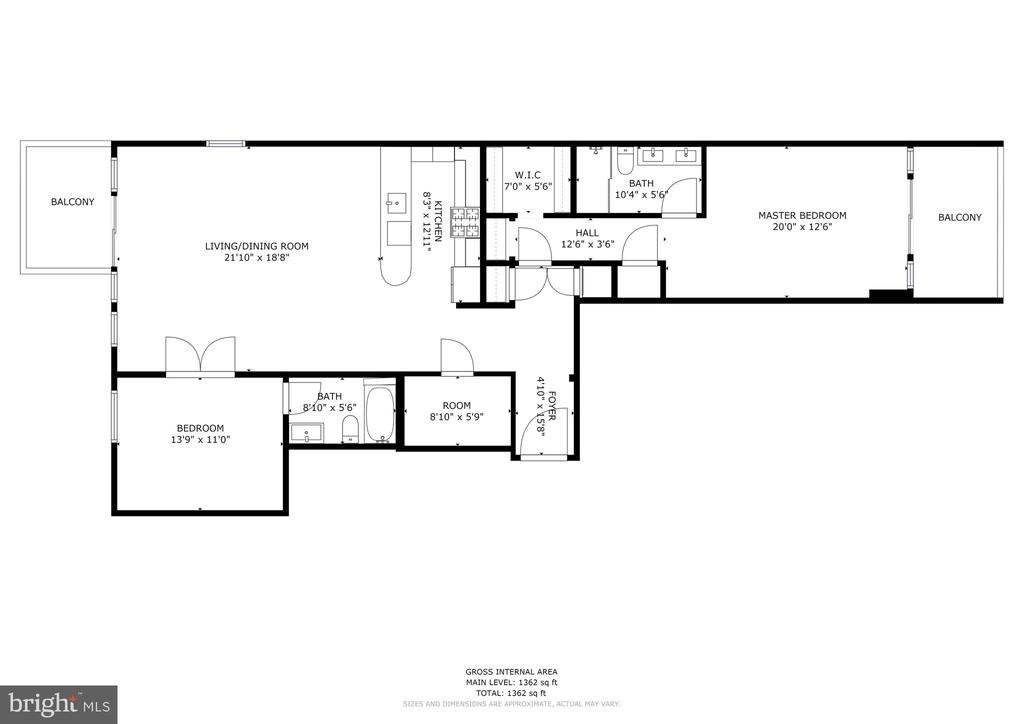 Floor Plan - 1468 BELMONT ST NW #3 WEST, WASHINGTON