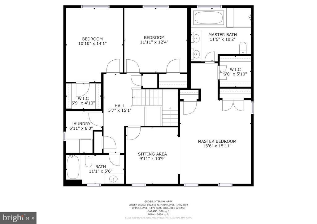 Bedroom level floor plan - 9097 WEXFORD DR, VIENNA