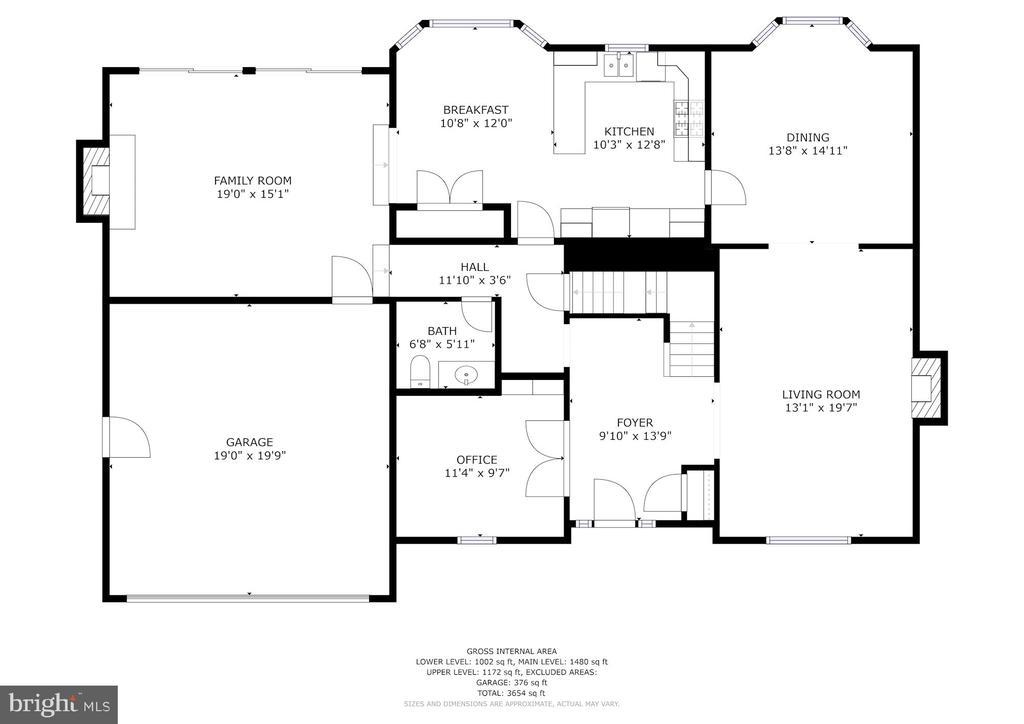 Main level floor plan - 9097 WEXFORD DR, VIENNA