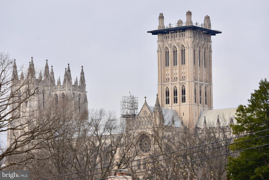 View of The National Cathedral from 3241 Woodland - 3241 WOODLAND DR NW, WASHINGTON