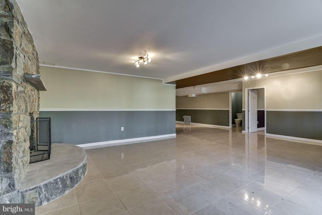 Spacious Recreation Rm & Stone Fireplace - 2301 TWIN VALLEY LN, SILVER SPRING
