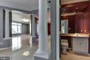 Dramatic Foyer & Classical Columns - 2301 TWIN VALLEY LN, SILVER SPRING