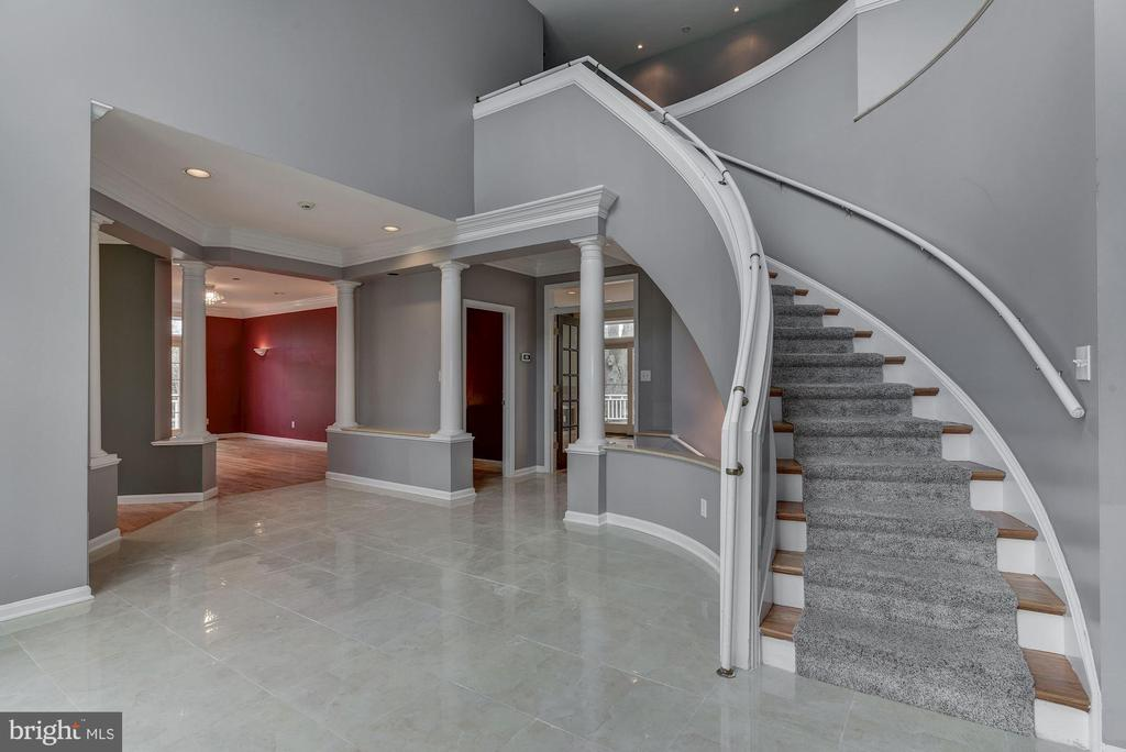 Gracious Curved Stair to Upper Level - 2301 TWIN VALLEY LN, SILVER SPRING