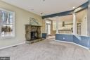Family Room & Stone Fireplace - 2301 TWIN VALLEY LN, SILVER SPRING