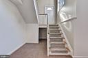 Back Stair to Lower Level - 2301 TWIN VALLEY LN, SILVER SPRING
