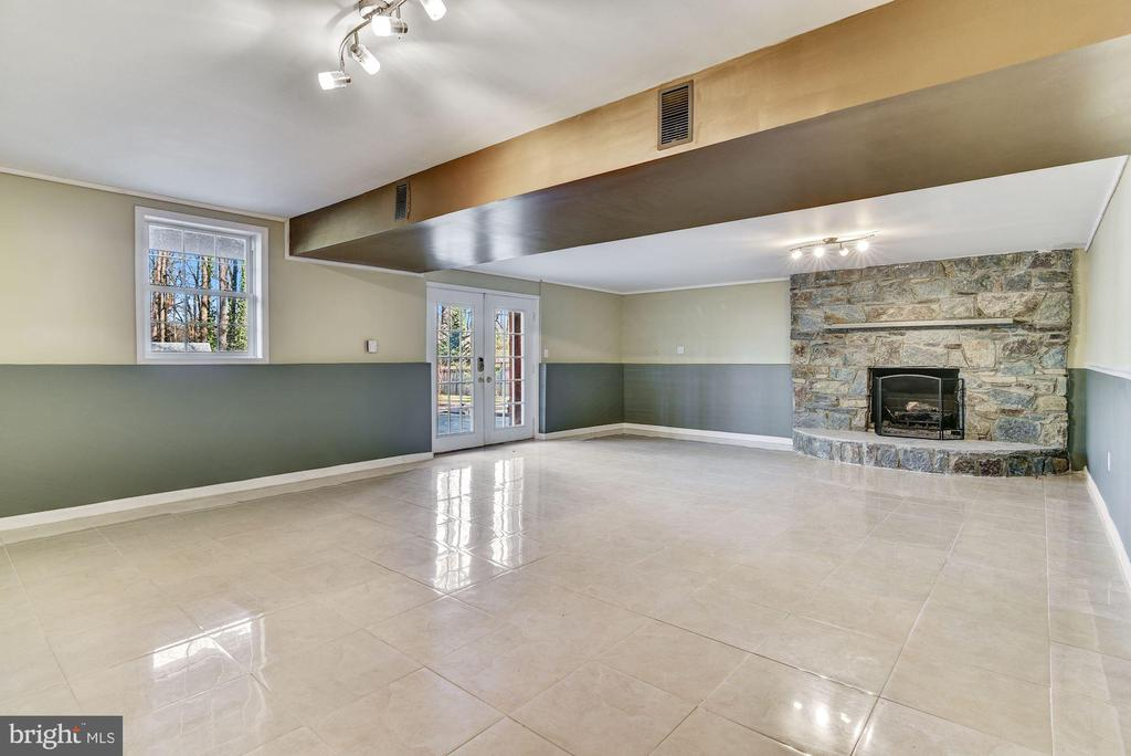 Full Daylight Recreation & Wood Fireplace - 2301 TWIN VALLEY LN, SILVER SPRING