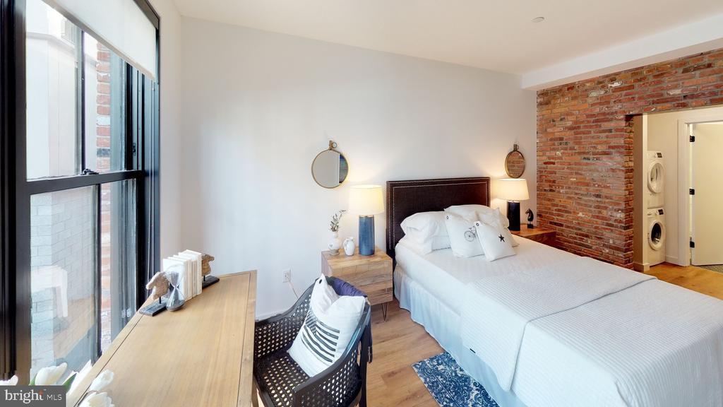 Large Bedroom w/ original exposed brick - 57 N ST NW #UNIT 308, WASHINGTON