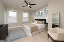 Peaceful master bedroom suite with abundant light. - 432 S COLUMBUS ST, ALEXANDRIA
