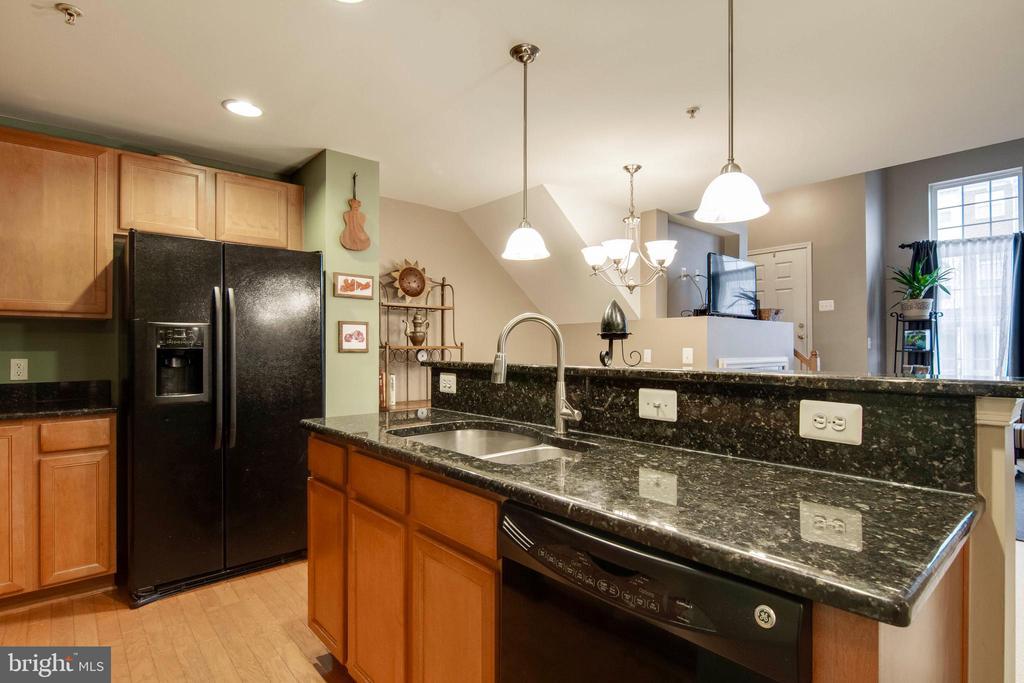 Open kitchen with pantry - 6260 WOODRUFF SPRINGS WAY #23, HAYMARKET