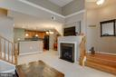 Gas fireplace in family room - 6260 WOODRUFF SPRINGS WAY #23, HAYMARKET