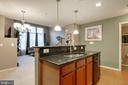 Island with extra cabinets for storage - 6260 WOODRUFF SPRINGS WAY #23, HAYMARKET