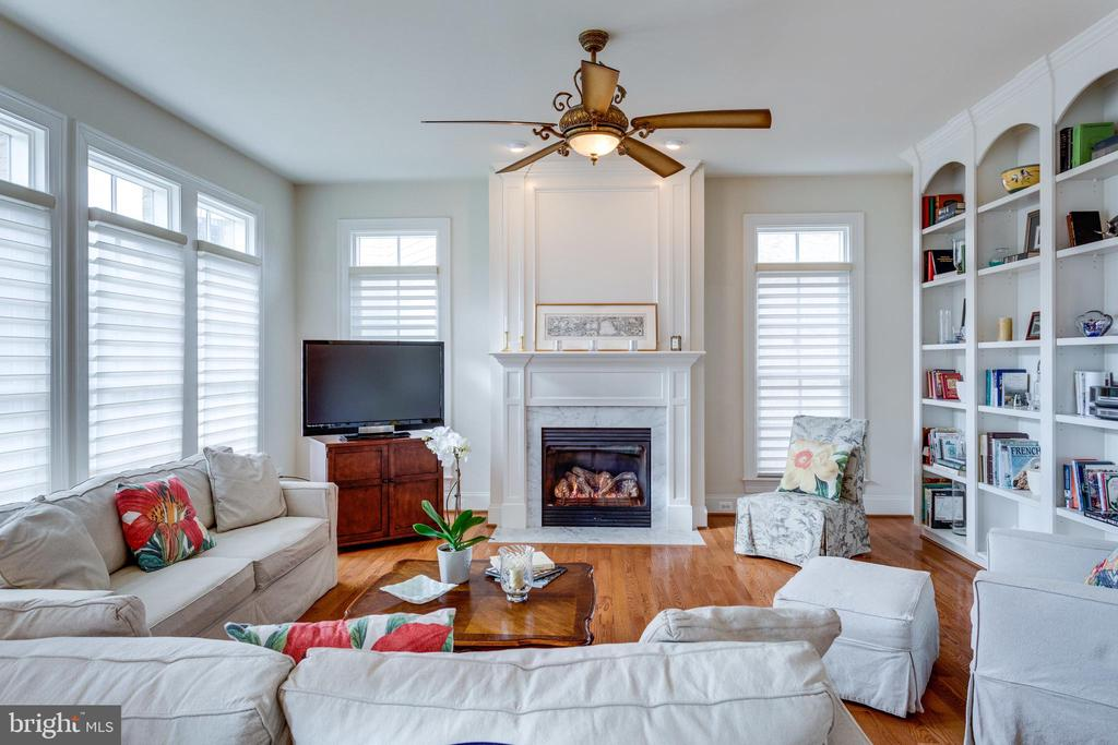 Family Room with Built ins - 8423 FALCONE POINTE WAY, VIENNA