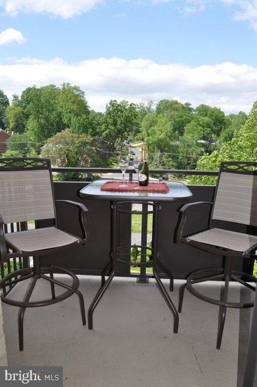Enjoy breakfast or cocktails on the balcony - 6001 ARLINGTON BLVD #706, FALLS CHURCH