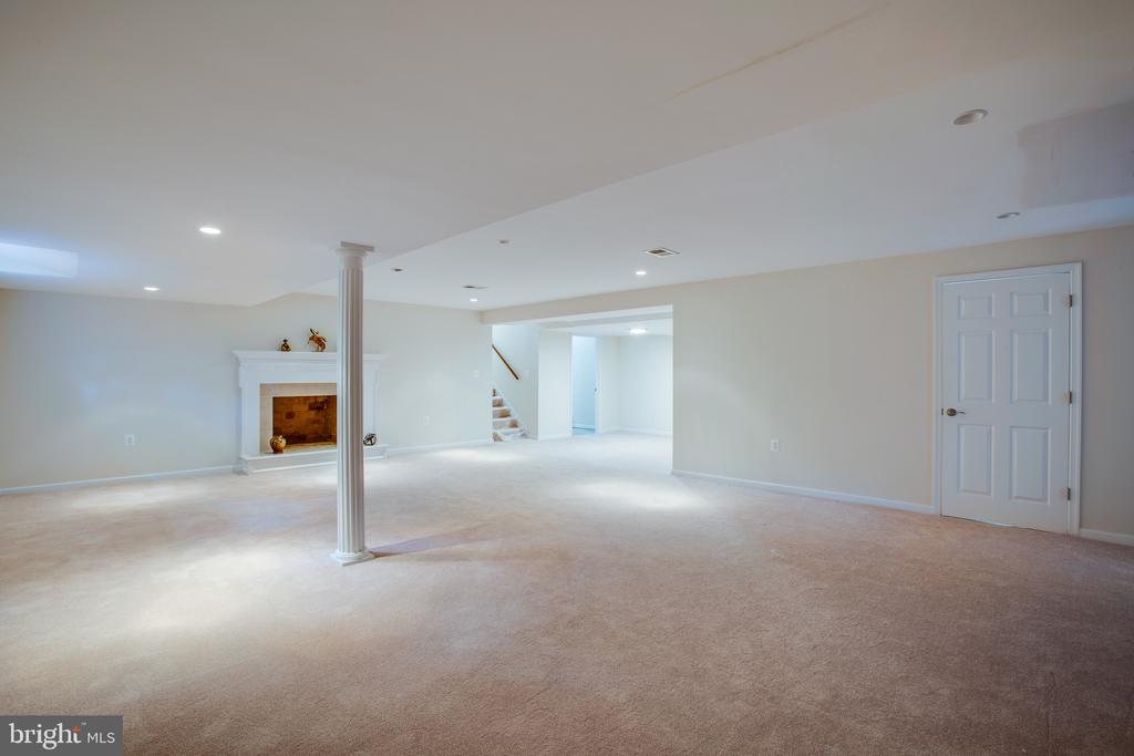 Brand new renovated basement with 2nd fireplace - 1100 BEVERLEY DR, ALEXANDRIA