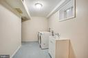 dedicated laundry space - 1100 BEVERLEY DR, ALEXANDRIA
