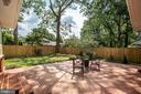 Private brick patio for those quiet evenings - 1100 BEVERLEY DR, ALEXANDRIA