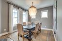 Open and airy dining room - 1102-A MONROE ST, HERNDON