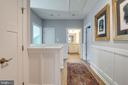 Upper level landing with wainscot paneling - 1102-A MONROE ST, HERNDON