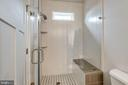 Master bath with luxury sized glass shower - 1102-A MONROE ST, HERNDON