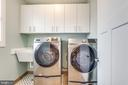 Upper level laundry with storage - 1102-A MONROE ST, HERNDON