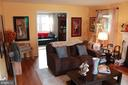 Living room - looking towards den - 9005 CHERRYTREE DR, ALEXANDRIA