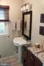 Half bath on main level - upgraded - 9005 CHERRYTREE DR, ALEXANDRIA