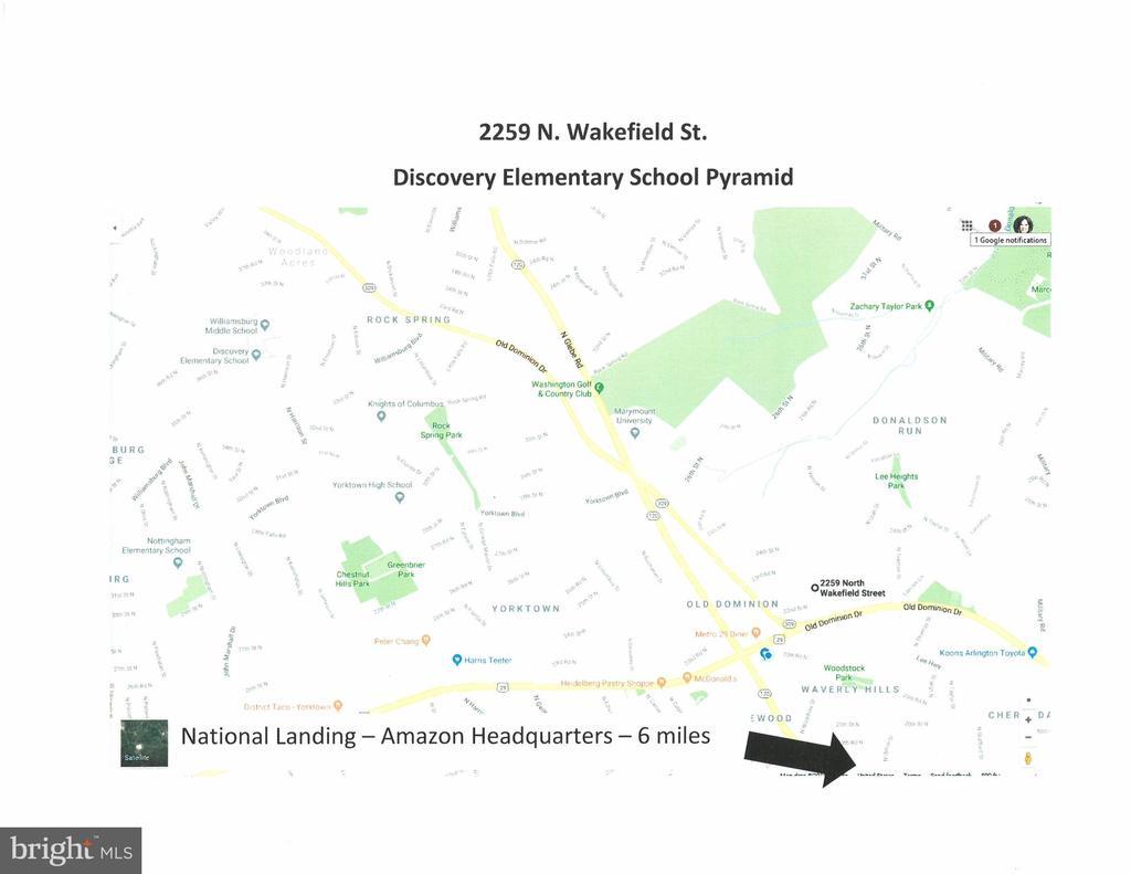 6 miles to National Landing/Amazon HQ - 2259 N WAKEFIELD ST, ARLINGTON