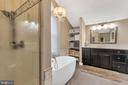 Richly appointed master bath - 13762 JAMES MONROE HWY, LEESBURG