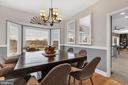 Formal dining room with peaceful views - 13762 JAMES MONROE HWY, LEESBURG