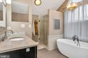 Don't you just love that deep soaking vessel tub - 13762 JAMES MONROE HWY, LEESBURG