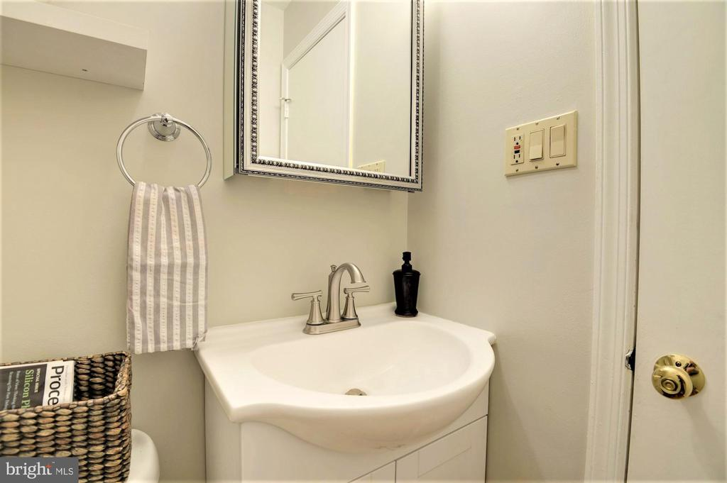Brand new powder room - 2305 ROSEDOWN DR, RESTON