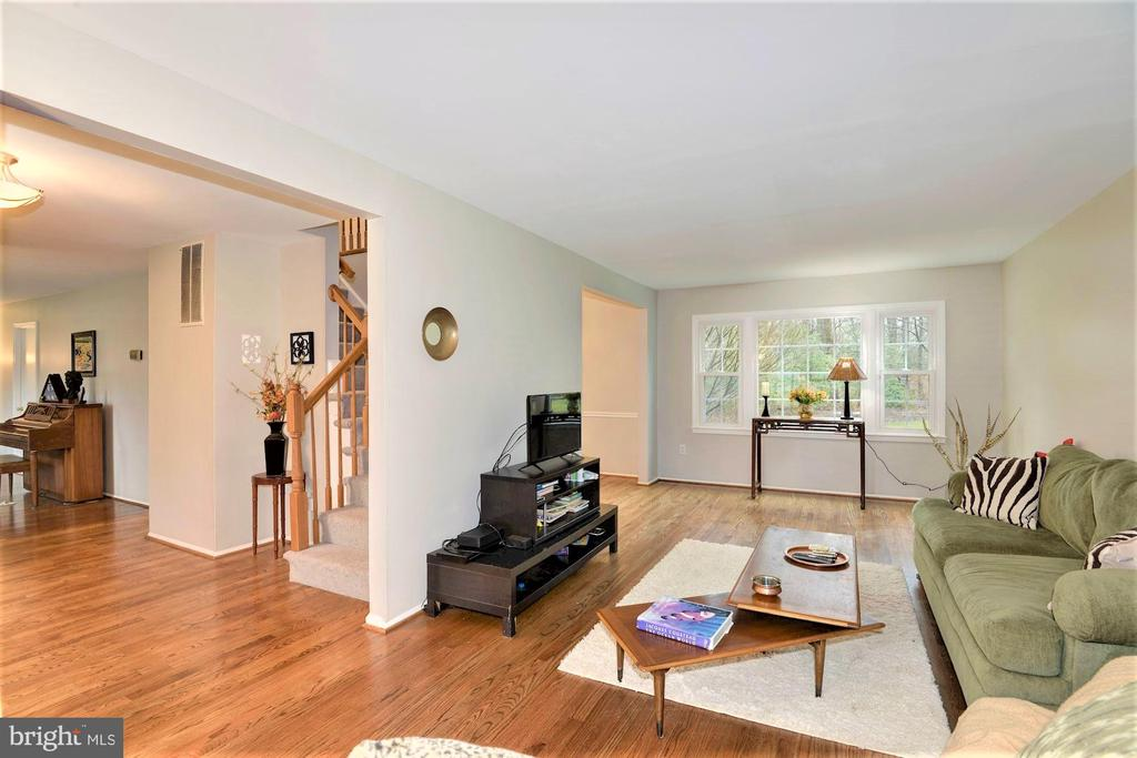 Large living room with new hard wood floors - 2305 ROSEDOWN DR, RESTON