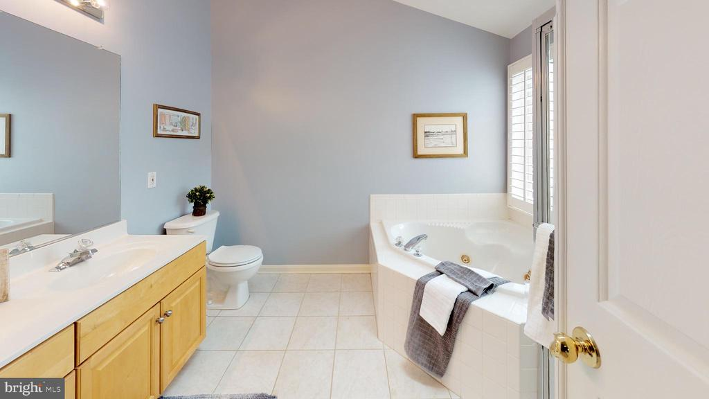 Luxurious master bath with jetted tub - 26104 NIMBLETON SQ, CHANTILLY