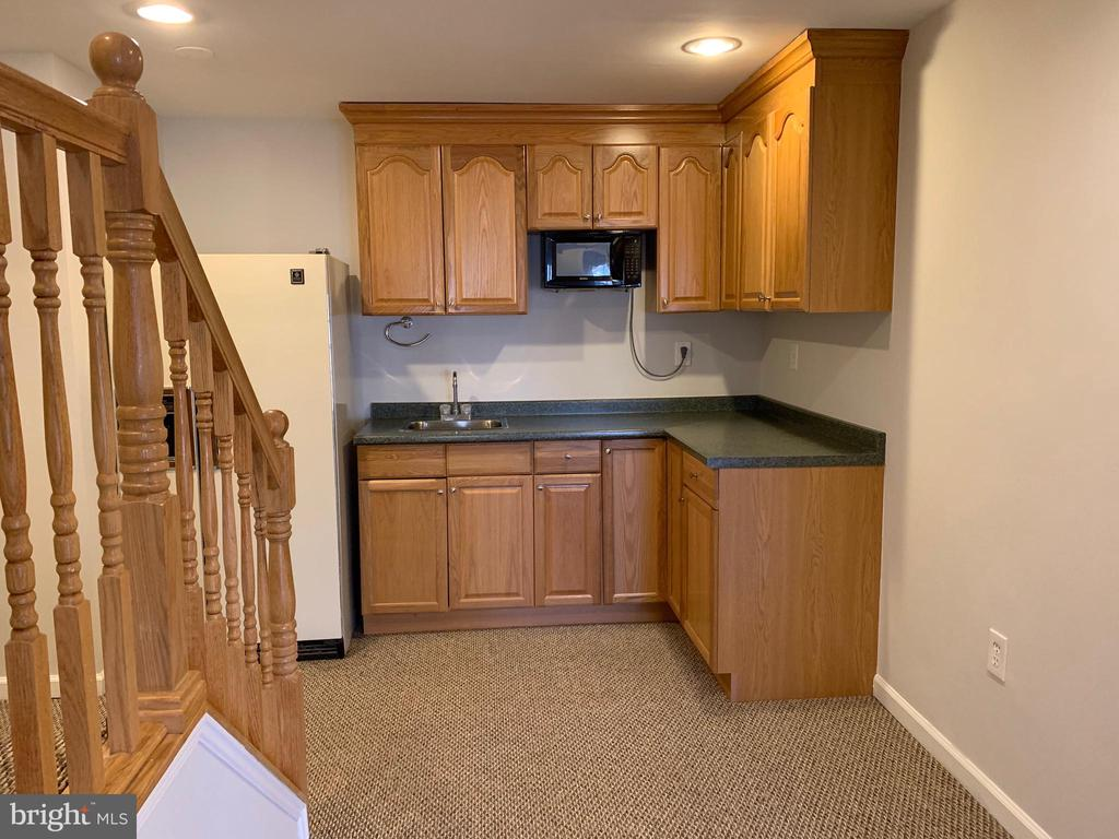 Basement Kitchenette with fridge and Microwave - 11206 BRADBURY LN, RESTON