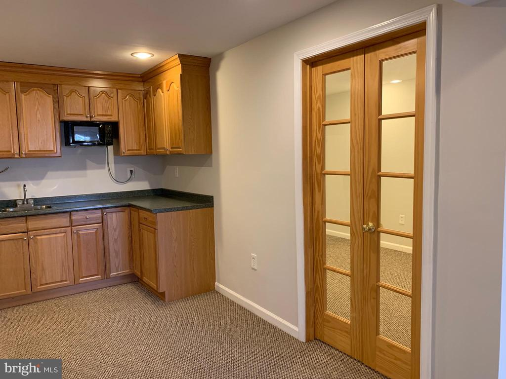 Rec Room View of Kitchenette and entry to Study - 11206 BRADBURY LN, RESTON