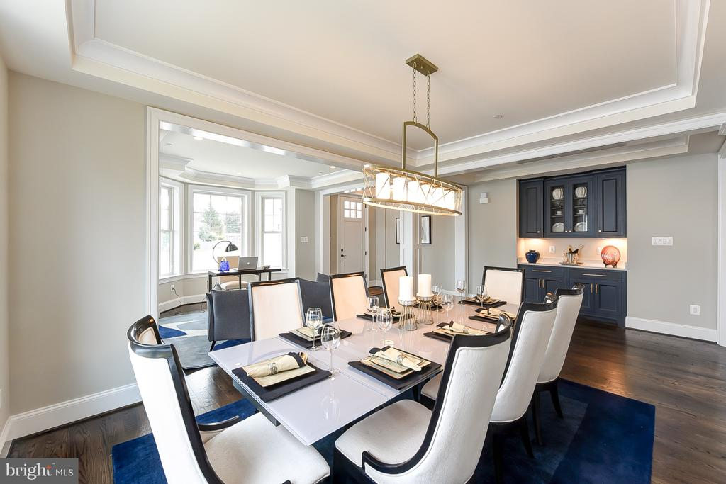 Serving bar is convenient to the dining room. - 4617 GLENBROOK PKWY, BETHESDA