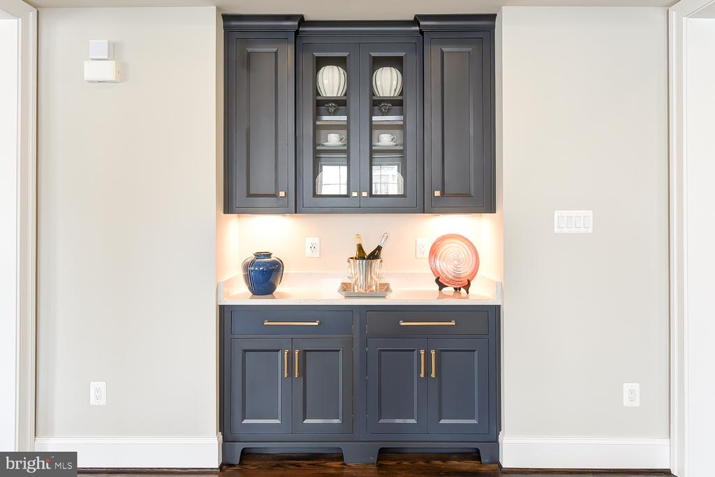Sexy, navy serving bar with gold accents! - 4617 GLENBROOK PKWY, BETHESDA