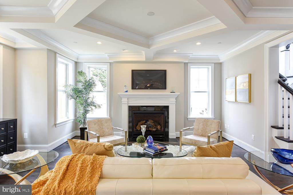 Loving the fireplace with glowing embers & remote. - 4617 GLENBROOK PKWY, BETHESDA