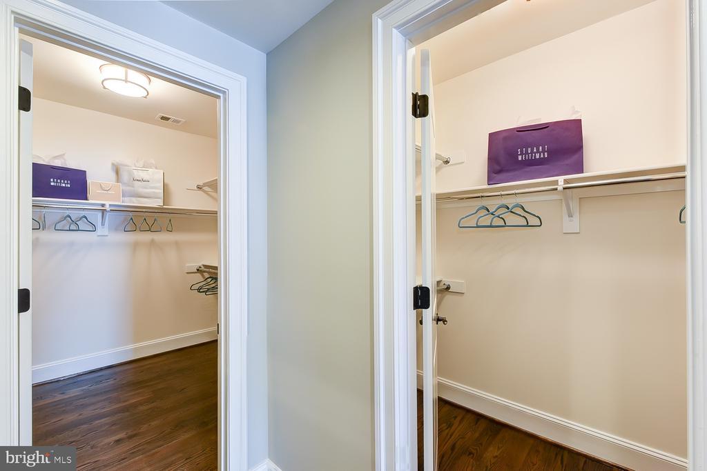 2-Walk-in Closets with custom shelving. - 4617 GLENBROOK PKWY, BETHESDA