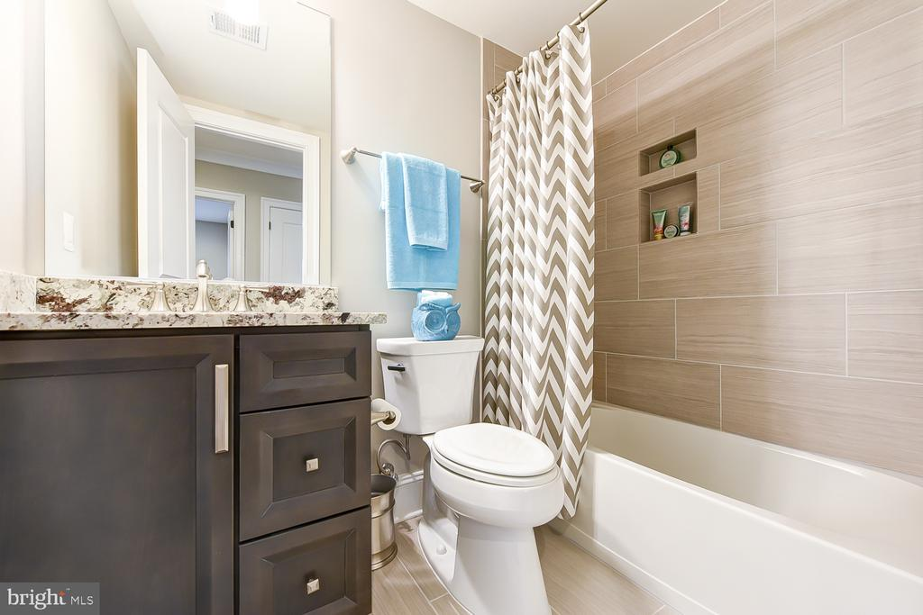 Lower level bath | granite counters - 4617 GLENBROOK PKWY, BETHESDA
