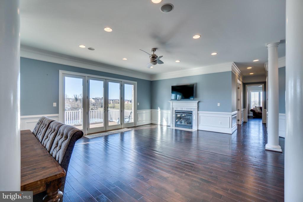 Double sided Gas Fireplace in Family Room - 38821 RIDGE CT, HAMILTON