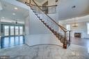 Dramatic 2 Story Foyer with Marble Floor - 38821 RIDGE CT, HAMILTON
