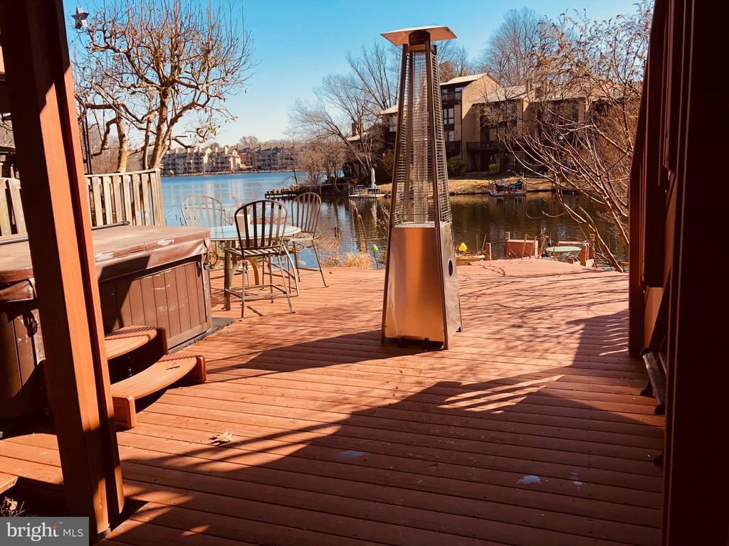Back deck with Hot tub, and outdoor space heater - 2025 CHADDS FORD DR, RESTON
