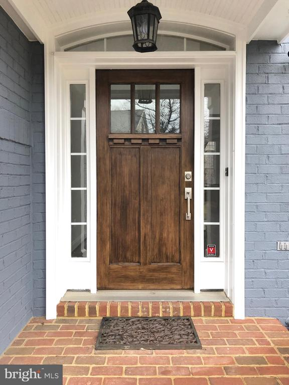 New Craftsman style front door - 7616 CENTER ST, FALLS CHURCH