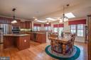 Breakfast Area/Kitchen/Sunroom with Skylights! - 10515 WILDBROOKE CT, SPOTSYLVANIA