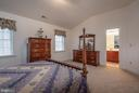 Guest Room with Cathedral Ceiling & Bathroom - 10515 WILDBROOKE CT, SPOTSYLVANIA