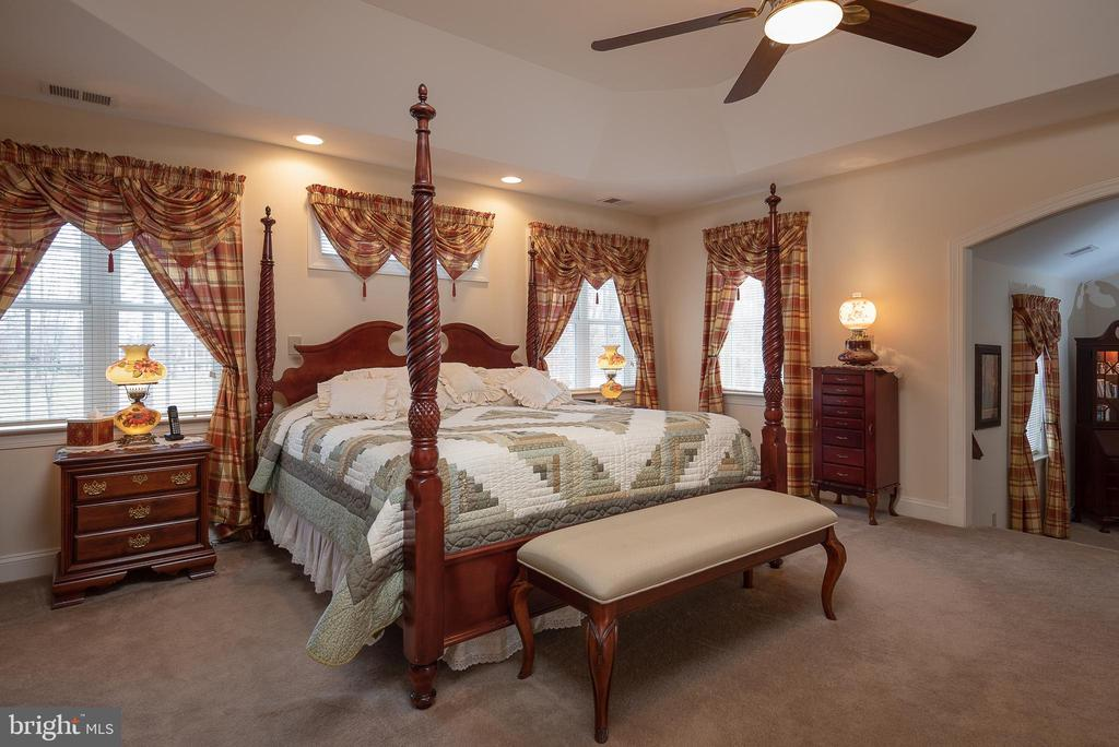 Master Bedroom with Tray Ceiling - 10515 WILDBROOKE CT, SPOTSYLVANIA